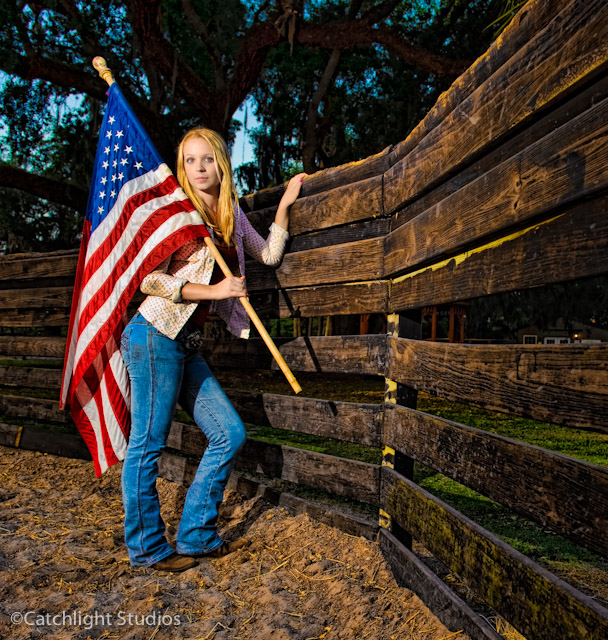 Kaley and the Flag-1